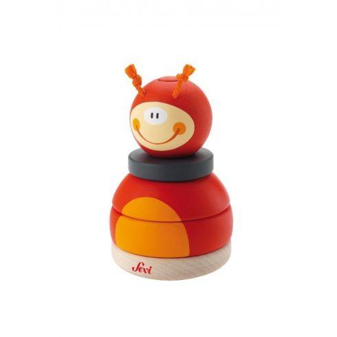 Sevi Stacking Ladybug Fa Katicabogár Építőjáték 82396